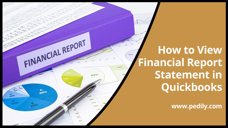 How to View Financial Report Statement in Quickbooks.