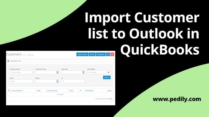 Import Customer list to Outlook in QuickBooks