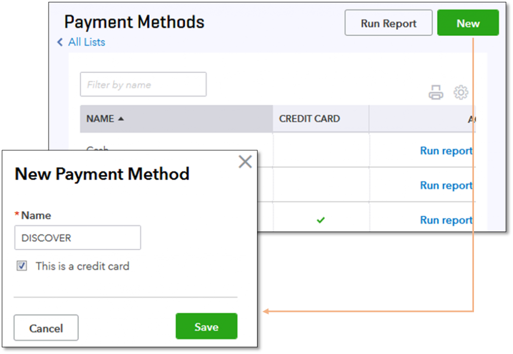QuickBooks Payment  Method